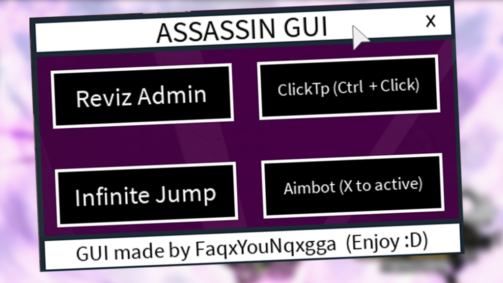 Roblox Script Gui 2020 Assassin Gui Best Roblox Exploit Scripts